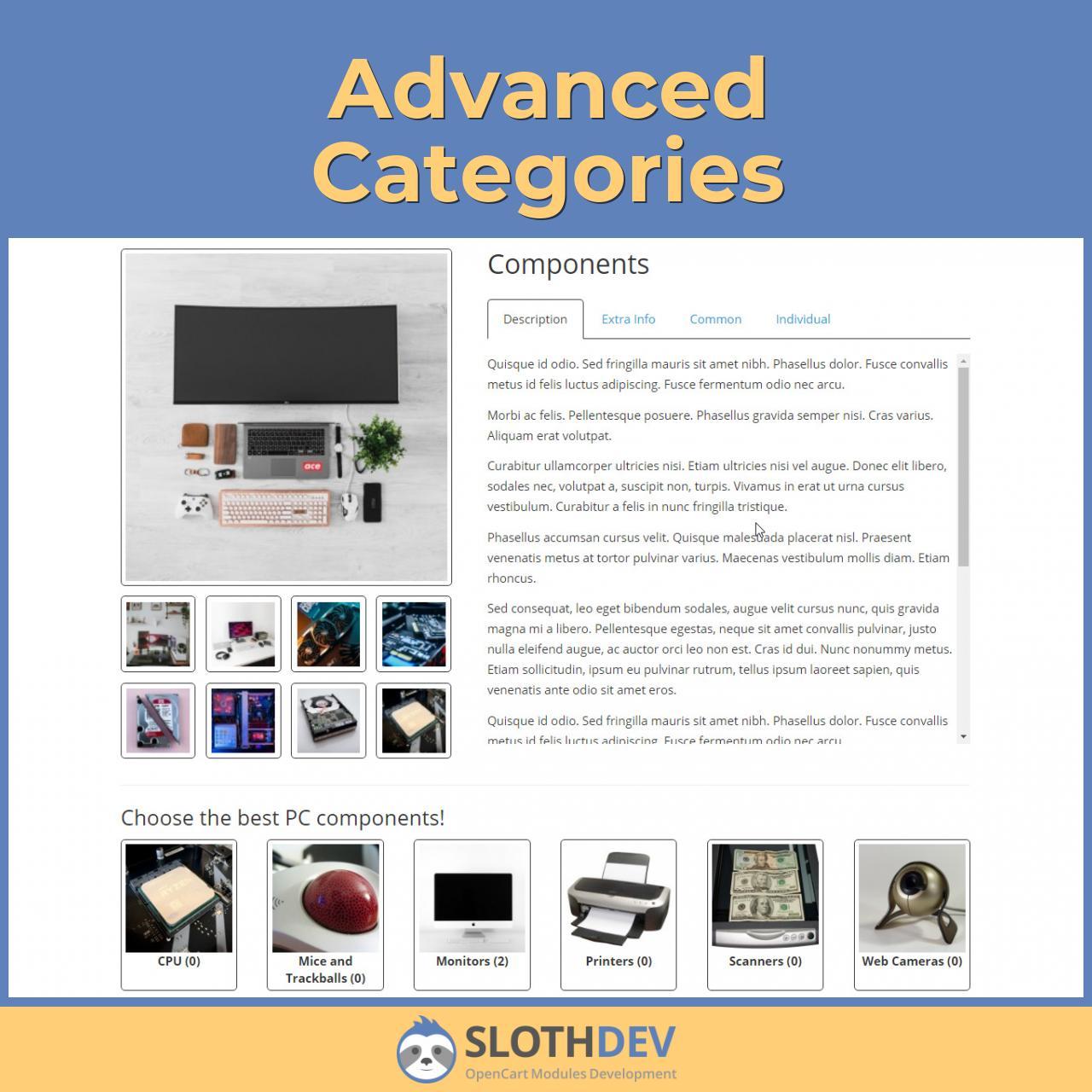 Advanced Categories