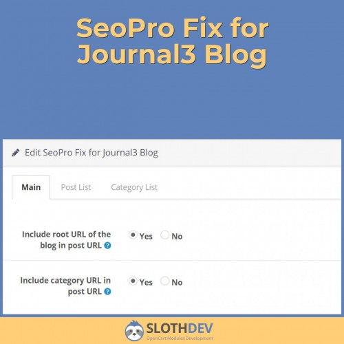 SeoPro Fix for Journal3 Blog
